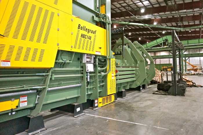 Bollegraaf HBC140 single ram baler