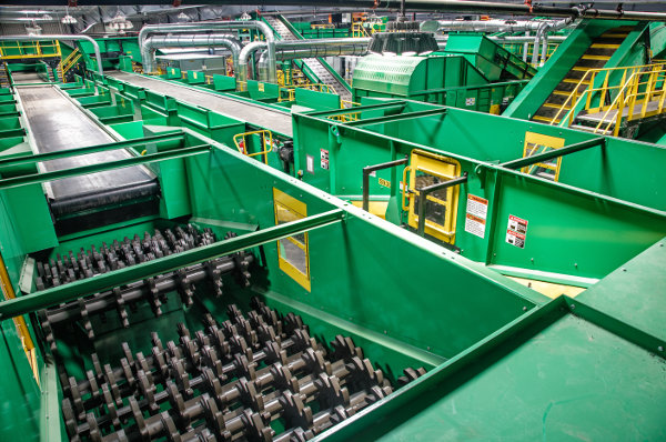 MRF processing multiple commercial and residential waste streams