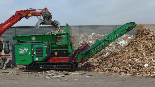 TYRON industrial waste shredder