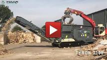 haas wood mixed waste shredder